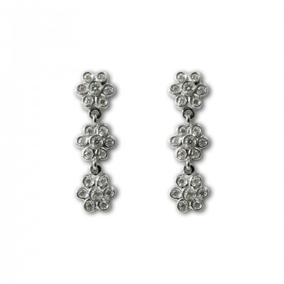 Pendientes Flores Diamantes